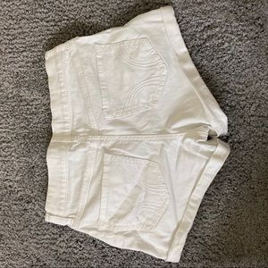 Hollister Shorts - Hollister High-Rise White Short Short